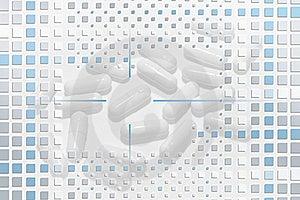Pills Under Mosaic Layer Stock Photography - Image: 18468352