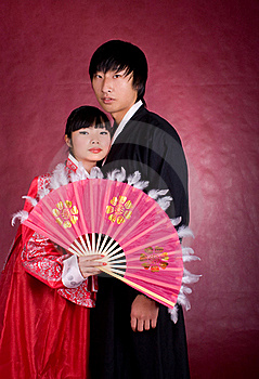 Asian Traditional Couple Stock Image - Image: 18469171