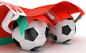 Two Soccer Balls Hold Belarus Flag Royalty Free Stock Images - Image: 18470989