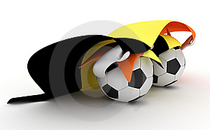 Two Soccer Balls Hold Belgium Flag Stock Image - Image: 18471001