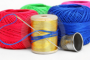 Colored Thread, Needles Royalty Free Stock Photos - Image: 18472488