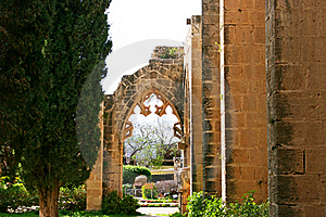 Bellapais Abbey Royalty Free Stock Image - Image: 18472576