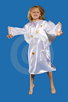 The Girl-angel Costumes Stock Image - Image: 18474731