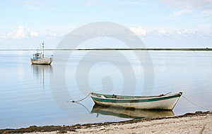 Boats In Peaceful Bay Stock Photo - Image: 18475850