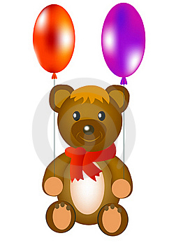 Toy Teddy Bear With Ball Royalty Free Stock Images - Image: 18478269