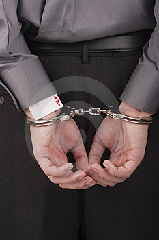 Arrest Card Sharper Royalty Free Stock Photography - Image: 18478347