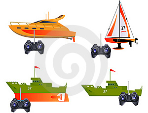 Toy Ships Royalty Free Stock Photo - Image: 18479085