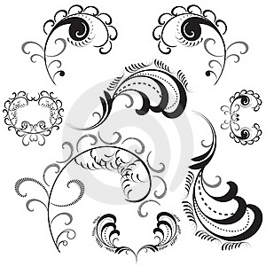 Set Of Floral Design Elements Royalty Free Stock Images - Image: 18479589