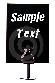 Black Sign With Space For Text Royalty Free Stock Photos - Image: 18480778