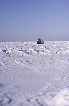 Tent On Sea Ice Royalty Free Stock Photos - Image: 18483018