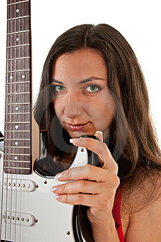 Girl With A Guitar Stock Photography - Image: 18483522