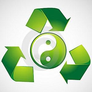 Green Yin Yang Stock Photos - Image: 18483723