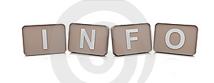 3d Text INFO Royalty Free Stock Photography - Image: 18487257