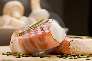 Cheese With Wrapped Bacon Stock Images - Image: 18488964