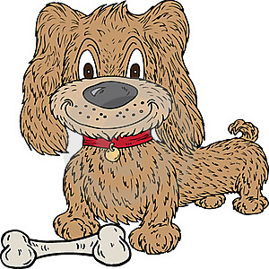 Cartoon Dog And Bone Royalty Free Stock Images - Image: 18490129