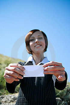 Young Caucasian Business Lady With Copyspace Stock Photography - Image: 18491192
