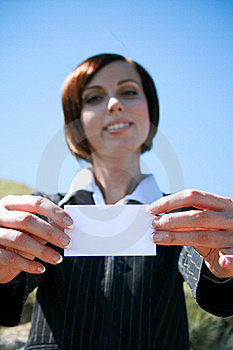 Young Caucasian Business Lady With Copyspace Royalty Free Stock Image - Image: 18491206