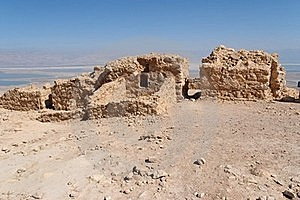 Ruins Of Ancient Masada Fortress On Dead Sea Stock Photography - Image: 18491452