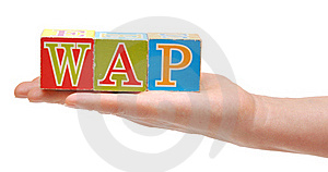 Abbreviations WAP, From Color Blocks Royalty Free Stock Image - Image: 18492626