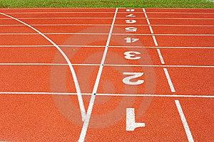 Running Track Stock Image - Image: 18492811