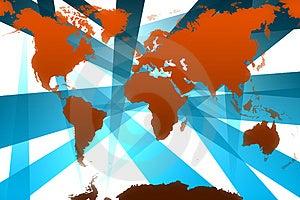 Карта мира Стоковое Изображение RF - изображение: 1857076