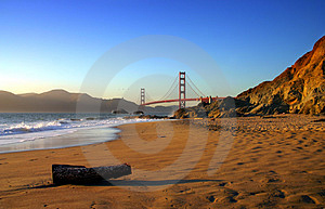Baker Beach, San Francisco Royalty Free Stock Photo