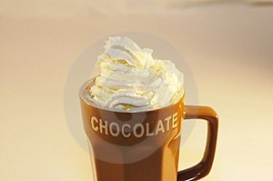 Hot Chocolate Milk Whip Cream Royalty Free Stock Photos - Image: 1859188