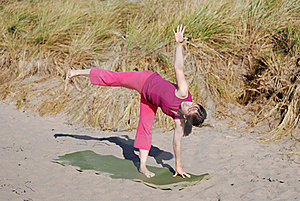 Beach Yoga Stock Image - Image: 18502691