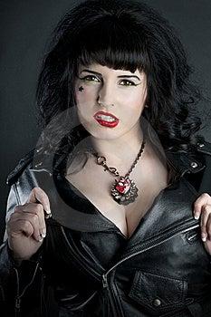 Hot Rocker Babe Royalty Free Stock Photos - Image: 18503978