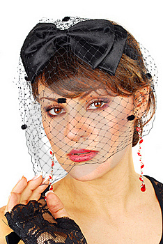 Veil Lady. Stock Photo - Image: 18505020