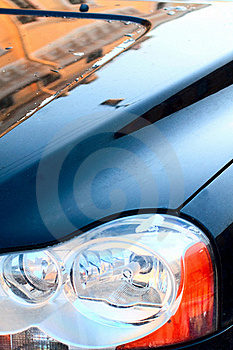 Reflection On A Cowl Royalty Free Stock Image - Image: 18505336