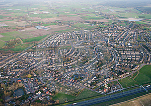 Aerial View Of The Village Of Bavel (Netherlands) Royalty Free Stock Photography - Image: 18508037