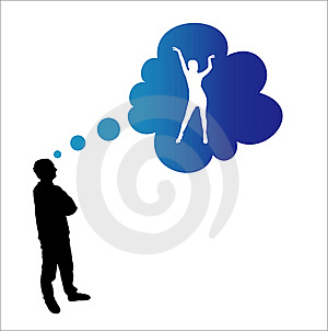 Dreaming Man Stock Photo - Image: 18509430