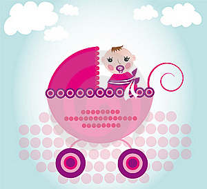 Baby In Carriage Royalty Free Stock Images - Image: 18509579