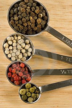 Peppercorns In Spoons Stock Images - Image: 18517254