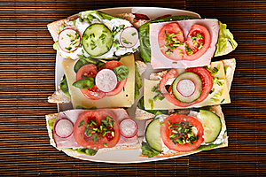 Different Sandwiches Royalty Free Stock Photo - Image: 18519025