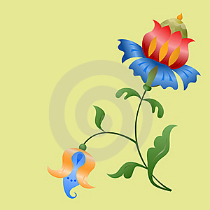 Stylized Flowers. Stock Images - Image: 18519994