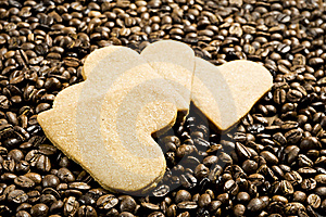 Heart Shaped Cookies And Coffee Stock Photo - Image: 18520020