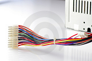 Colored Computer Wires Stock Photography - Image: 18522572