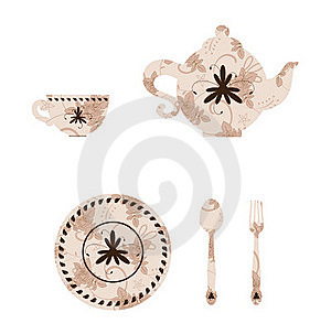 Vintage Tableware Royalty Free Stock Photography - Image: 18523567