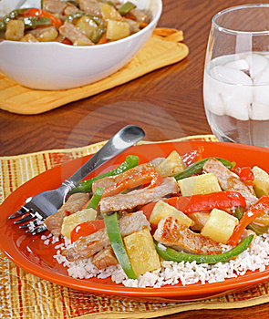 Sweet And Sour Pork Royalty Free Stock Photos - Image: 18523748