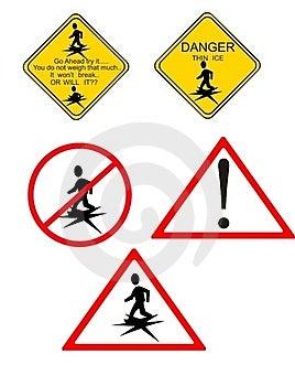 Danger.. Thin Ice.. Royalty Free Stock Image - Image: 18524036