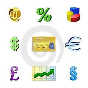 Set Of Bank Objects Stock Photos - Image: 18524963
