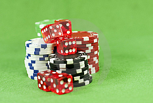 Casino Chips Royalty Free Stock Photos - Image: 18526818