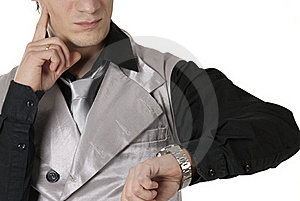 Worried Businessman Royalty Free Stock Images - Image: 18527869