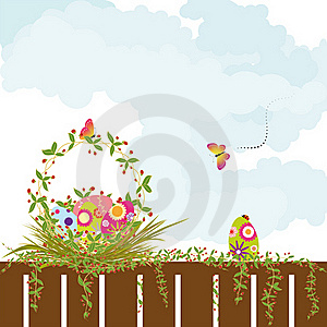 Springtime Easter Holiday Wallpaper Stock Photos - Image: 18528833