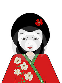 Geisha Girl Royalty Free Stock Images - Image: 18530849