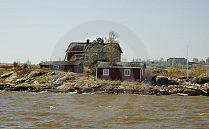 Wooden Cottages On The Coast Royalty Free Stock Photography - Image: 18531647