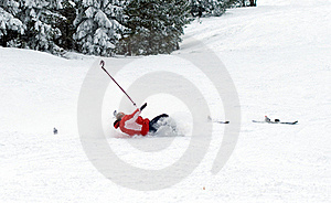 Falling Skier Stock Photo - Image: 18532140