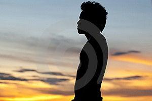 Thai Man Sillouette Stock Image - Image: 18533361